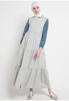 ec5b3a838e2 OMARA multi and grey Tiara Dress 772ADAADB4E96CGS 1