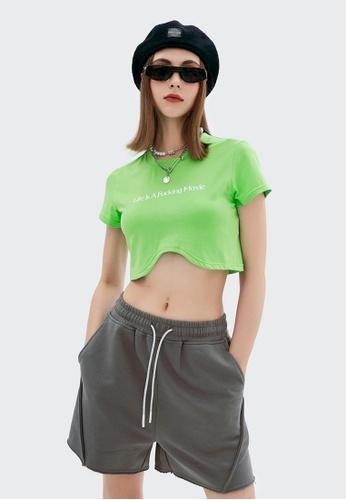 Twenty Eight Shoes Cropped Printed Short Sleeve T-shirt 6033GS21 4842FAA789207DGS_1