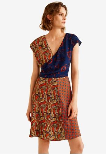 Mango multi Contrasting Print Dress 7DCD1AAA18F863GS_1