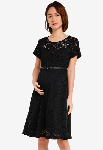 Pietro Brunelli Milano black Rodano Lace Maternity Dress 2C310AA6F19675GS_1