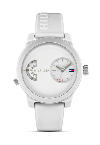 Tommy Hilfiger Watches white Men's Silicone Strap Watch 59949AC130E0E1GS_1