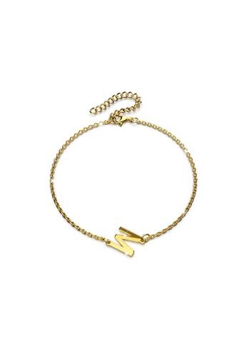 Bullion Gold gold BULLION GOLD Bold Alphabet Letter Initial Charm Bracelet in Gold Tone - M 20864ACBE70005GS_1