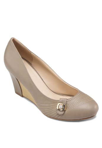 閃飾楔型跟鞋,zalora 鞋評價 女鞋, 楔形鞋