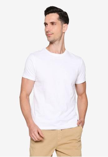 OVS white Round Neckline T-Shirt 90938AA9FAA617GS_1
