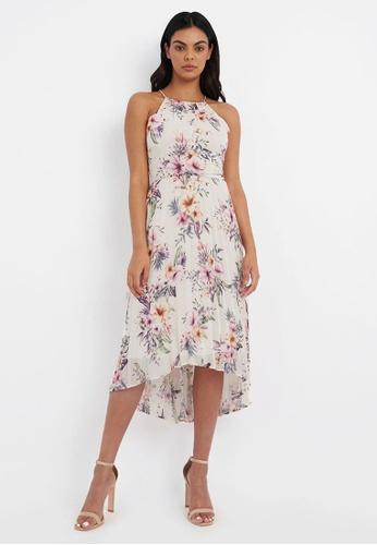 FORCAST multi FORCAST Kacey Floral Halter Dress 1675FAA75EAD1EGS_1