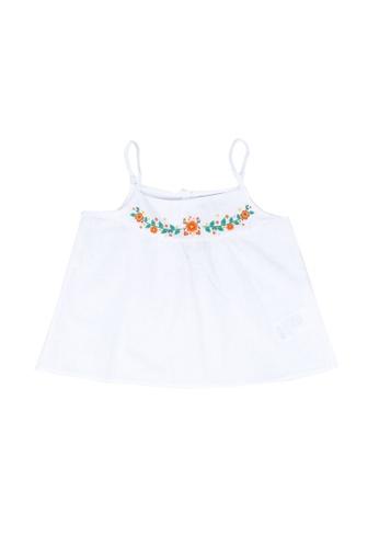 LC Waikiki white Girl's Floral Cotton Blouse 2C47EKAEBEC877GS_1