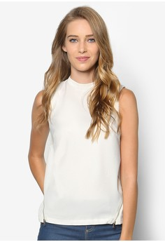 Collection High Neck Top With Side Zip