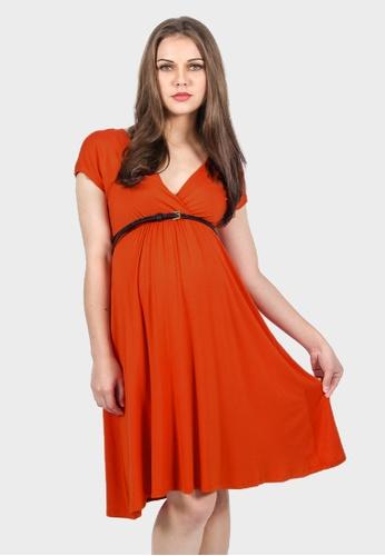 e5b23691c2970 Buy 9months Maternity Orange Overlap Nursing Dress Online | ZALORA Malaysia