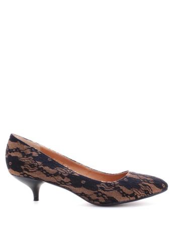 PRODUIT PARFAIT black Lace pointed toe pumps 7FAF4SHBF5D093GS_1