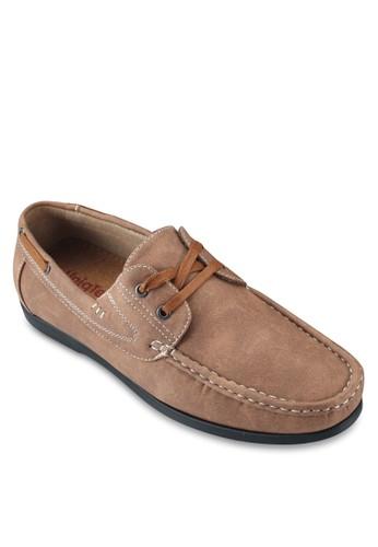 經典麂皮繫esprit門市帶船型鞋, 鞋, 鞋