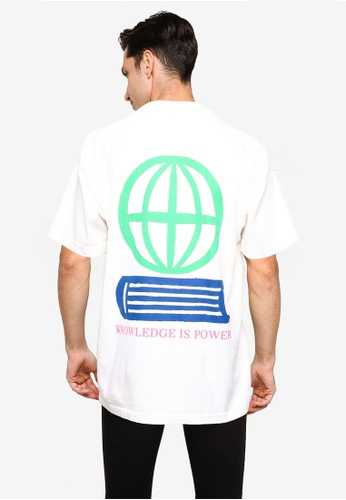 OBEY white Knowledge Is Power T-Shirt 2DE87AA748E075GS_1