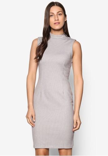 Collection 修身高領無袖洋裝、 服飾、 Love Your CurvesZALORACollection修身高領無袖洋裝最新折價