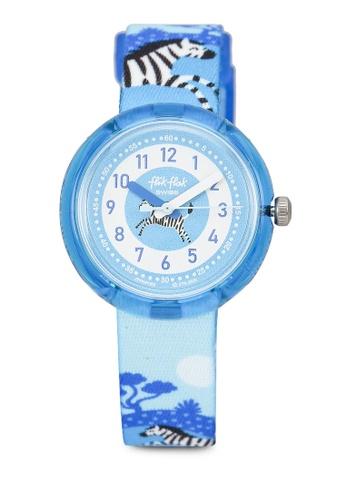 Flik Flak blue Zebrannah Watch DF956KCE7EFD69GS_1
