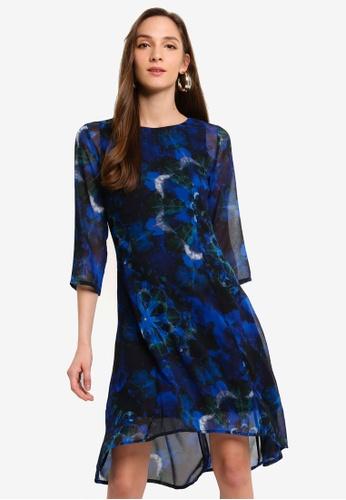 Desigual blue Mandalas Tie Dye Dress AD8ECAA45A83BCGS_1