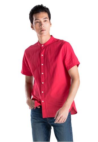 Levi's red Levi's SS Mandarin Collar Shirt Lychee Red 69891-0001 9EC5BAA2B0C965GS_1