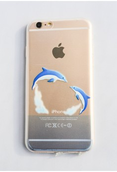 Dolphins Jump Soft Transparent Case for iPhone 6/6s
