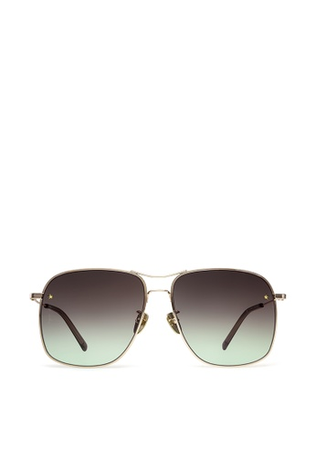 agnès b. black agnès b. Metal Sunglasses AB10021 Amour D7326GL1B6B786GS_1