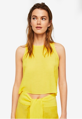 Mango yellow Soft Fabric Top 846D6AAECE25C4GS_1