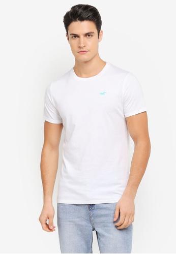 Hollister white Core Pop Icon Crew Neck T-Shirt HO422AA0SZOIMY_1