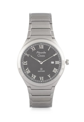 Alexandre Christie silver Alexandre Christie Jam Tangan Wanita - Silver Black - Stainless Steel - 8538 LDBSSBA  DBD00AC2AE25B8GS_1
