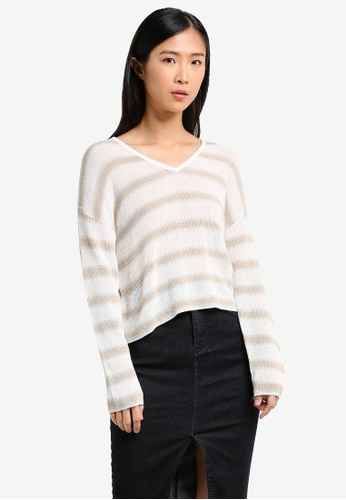 Mango gold Metal Thread Sweater MA193AA0RXSVMY_1