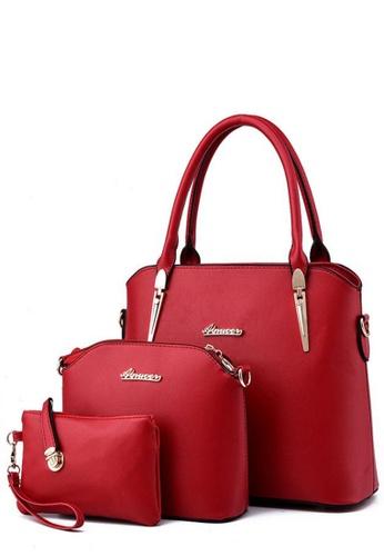 TCWK red Set of 3pcs Ladies Handbag TC258AC0RFOTMY_1
