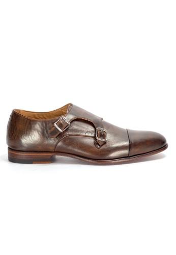 Shu Talk 褐色 高貴型格男裝雙扣皮鞋 2223ASH7A7DACAGS_1
