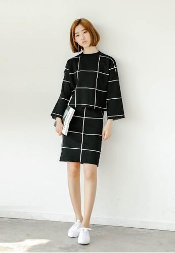 Hesprit門市地址olly 格紋兩件式套裝, 服飾, 上衣