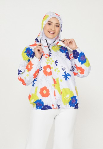 Mimamim white Dahayu All Over Print Jacket 0F773AACF51830GS_1