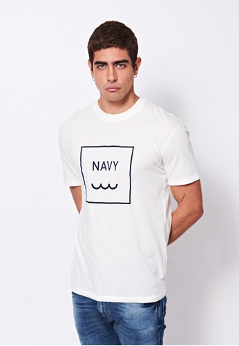 Sisley white Printed T-shirt A5417AA0E30205GS_1