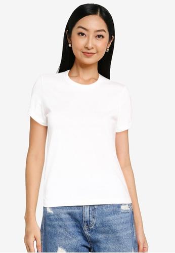 URBAN REVIVO white Casual T-Shirt C8362AAC2916B7GS_1