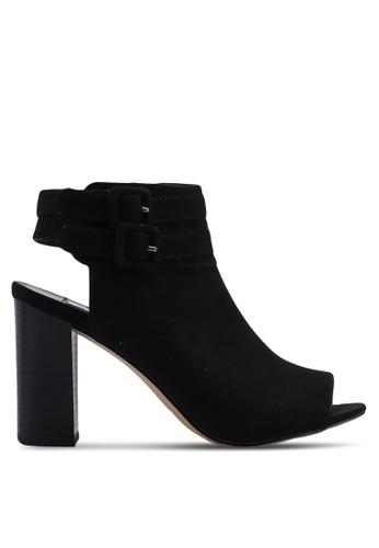 Steve Madden 黑色 Banquet Peep Toe Ankle Strap Block Heels 2EF2DSH01B8802GS_1