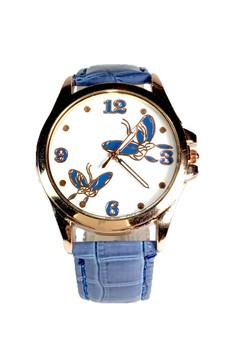 Kimchi Blue Butterfly Leather Strap Watch