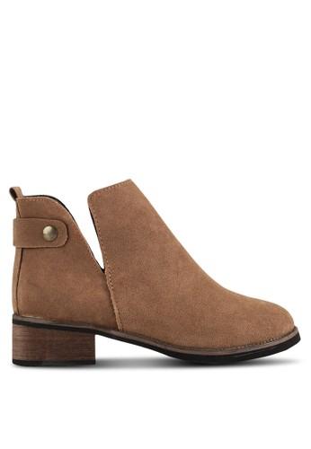 開衩鞋口踝靴, 女esprit outlet 家樂福鞋, 靴子