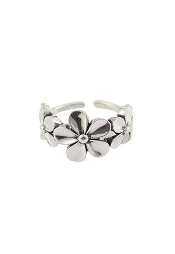 A-Excellence silver Premium S925 Sliver Flower Ring 22C91ACF08E373GS_1