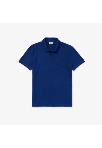 Lacoste black Lacoste Men's Lacoste Tunisian Collar Linen And Cotton Regular Fit Polo Shirt DE27FAAD52D8CBGS_1