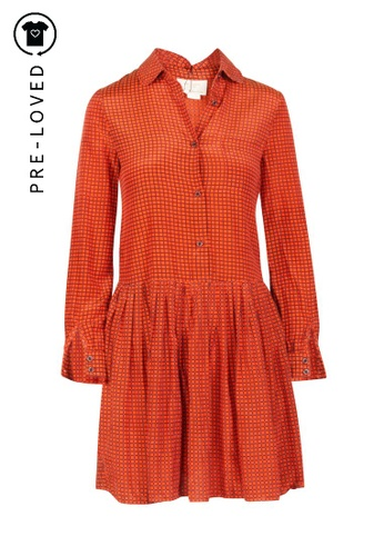 Kate Spade orange Pre-Loved kate spade Geometrical Printed Dress 01875AAF9C43B2GS_1
