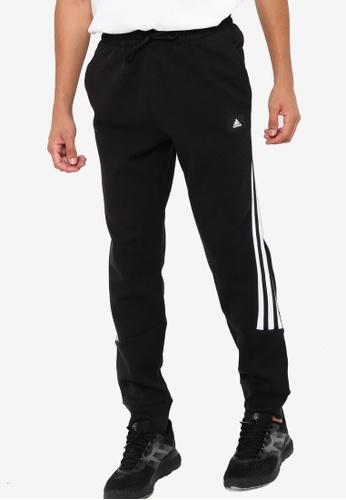 ADIDAS black sportswear future icons 3-stripes pants 5C995AA6FD2680GS_1