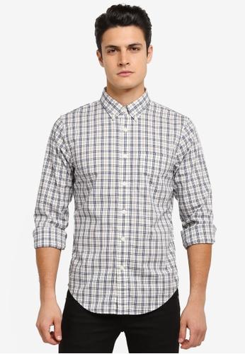 Abercrombie & Fitch white Poplin Shirt AB423AA0SJN9MY_1
