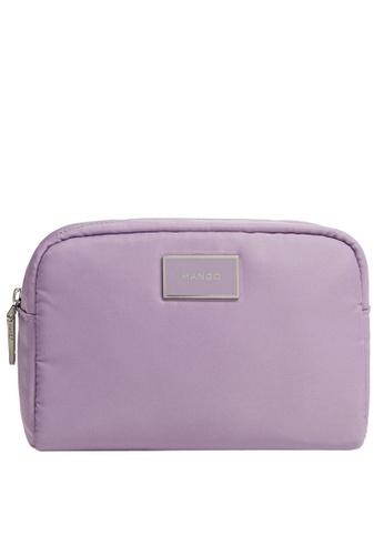 Mango purple Logo Cosmetic Bag 0D67BAC4C375C8GS_1