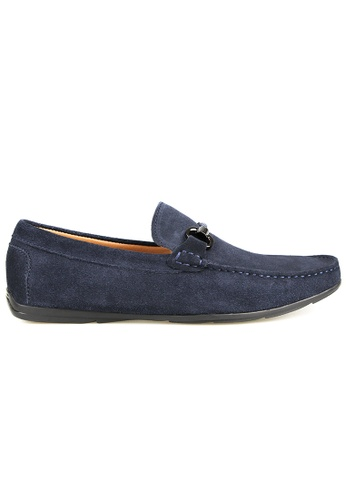 Tomaz blue Tomaz C388 Buckled Moccasins (Navy) AAA83SHDA8FA05GS_1