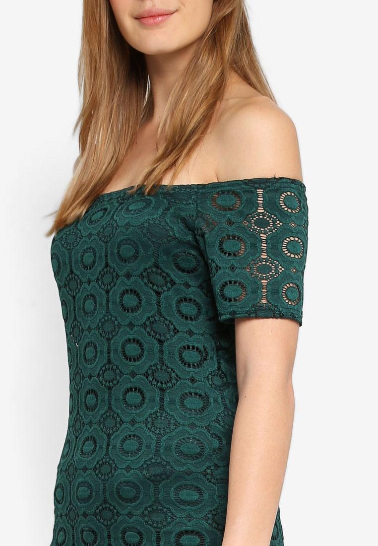 Top Lace Bardot Dorothy Green Green Perkins qnxwHwT