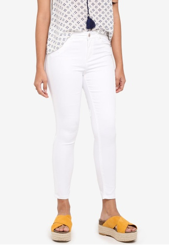 Miss Selfridge white Petite White Lizzie Jeans FADE3AAC299A15GS_1