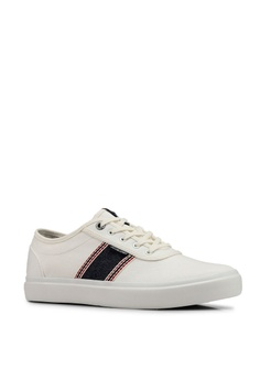 3a563439bf1 15% OFF Jack   Jones Austin White Stripe Denim Sneakers Php 4