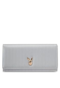 15276029f PLAYBOY BUNNY grey Playboy Bunny Long Purse PL604AC0SKNCMY_1