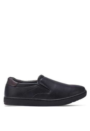 Rocklander black Casual Slip Ons RO978SH0S87JMY_1