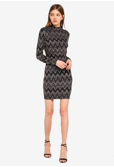 d5ec7f8bd65 60% OFF Dorothy Perkins Zig Zag Lurex Bodycon RM 209.00 NOW RM 83.90  Available in several sizes · Dorothy Perkins black Baroque Bodycon Dress ...