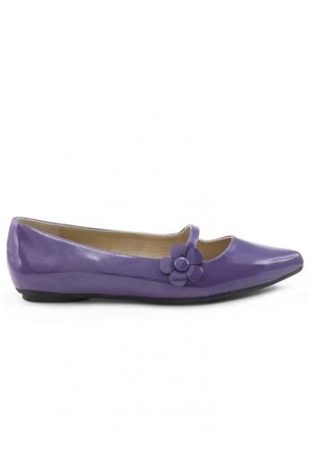 Shu Talk 紫色 漆皮尖頭低跟鞋 SH544SH099UATW_1