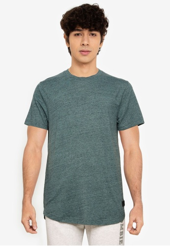 Abercrombie & Fitch green Curved Hem T-Shirt 70FA8AA93550EDGS_1