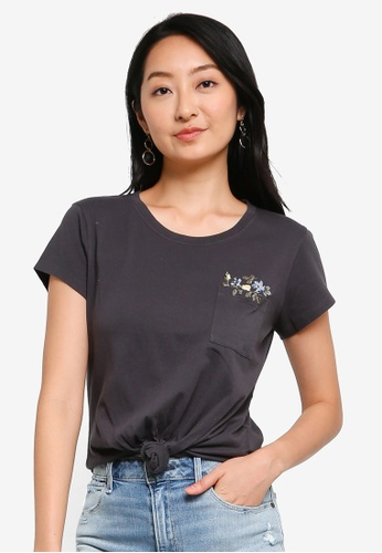 ABERCROMBIE & FITCH black Nonlogo Pocket Tee 5E3D7AAA5EAC60GS_1